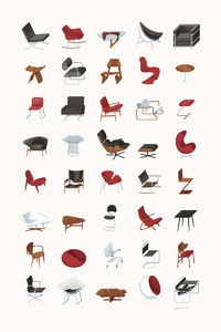 Flickr Photo Download: Mid-Century Modern Furniture Poster