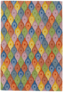 Dimpled Spindle by Eva Zeisel | Tibetan Wool Rug