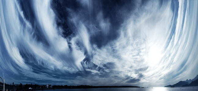 Flickr Photo Download: Panorama - HDR Sky over Vancouver