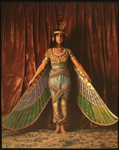 Flickr Photo Download: Dancer wearing Egyptian-look costume with wings reaching to the floor