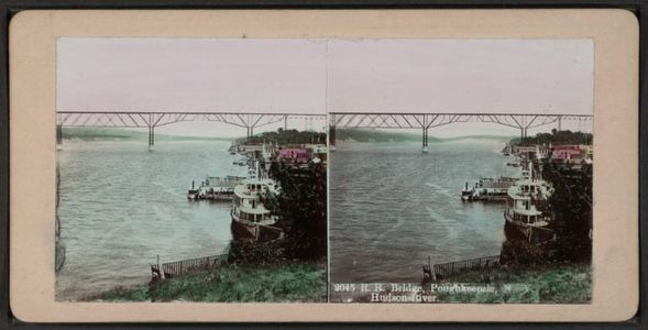 Flickr Photo Download: R.R. Bridge, Poughkeepsie, N.Y. - Hudson River.