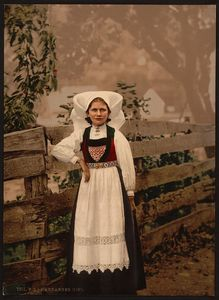 Flickr Photo Download: [A Hardanger girl, Hardanger Fjord, Norway] (LOC)