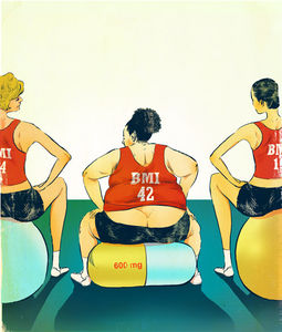 Christina Ung Illustrations - One Pill Makes You Smaller   Avenue Magazine