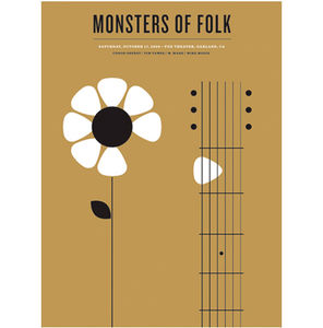 grain edit · Monsters of Folk Poster