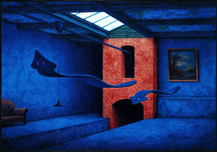 some kind of interior (paintings oil canvas) on the Behance Network