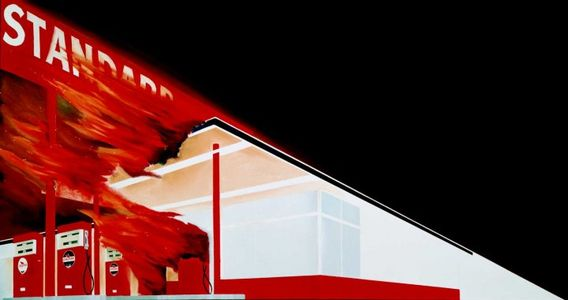 Flickr Photo Download: Ed Ruscha, Burning Gas Station, 1966