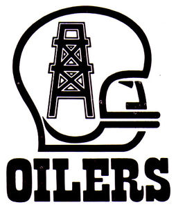 SO MUCH PILEUP: Houston Oilers logos