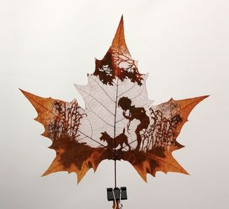 Make: Online : Art from cut leaves