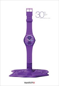 """Purple"" Print ads for Swatch Watch by Publicis"