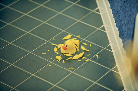 Flickr Photo Download: Shattered rubber ducky