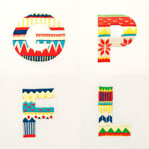 Sweater Letter - Family Set on the Behance Network