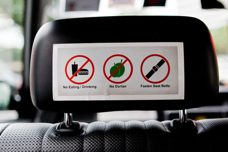 Flickr Photo Download: Singapore Cab: NO DURIAN!