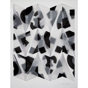 'Helvetica Trace' Origami Print, Buy Unique Gifts From CultureLabel.com