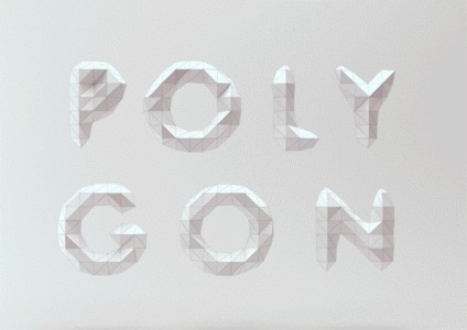 Low Poly Font on Behance