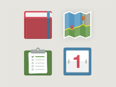 Beautiful Examples of Flat and Minimal Icon Designs | SmokingDesigners