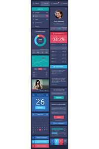 Flat Design UI Components on Behance