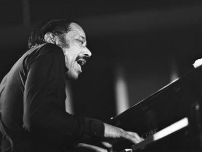 American jazz pianist Horace Silver performs at the North Sea Jazz Festival in The Hague,  Netherlands, in 1988.