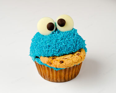 Flickr Photo Download: Cookie Monster Cupcake 1