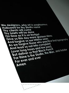 The Designer's Prayer - the johnson banks thought for the week