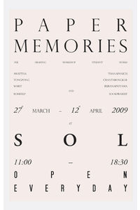 Flickr Photo Download: Paper memories poster