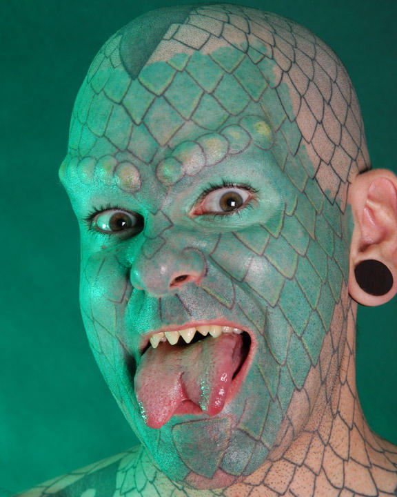 green lizard man