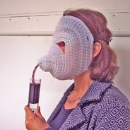 Make: Online : Proboscian sippy mask