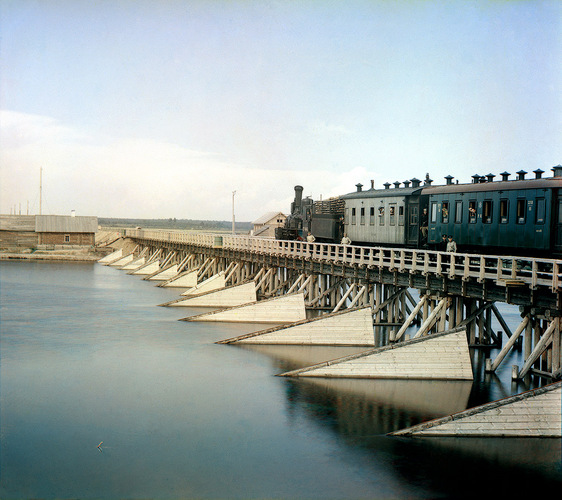 Flickr Photo Download: The railroad bridge over the river Shuya, 1915