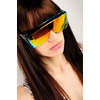 Testarossa Safety Shades - Orange Mirrored - NASTY GAL - Vintage Clothing, 80s Vintage Clothes, Vintage Sunglasses, Vintage Dresses!