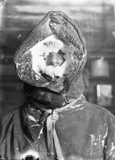 Flickr Photo Download: Ice mask, C.T. Madigan / photograph by Frank Hurley