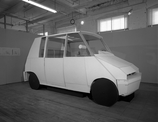 Flickr Photo Download: [Art School -- Industrial Design -- Taxi Model at Transportation Laboratory]