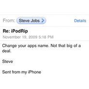 Steve Jobs Responds to Passionate App Developer, Curtly - Steve Jobs - Gizmodo