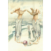 Watercolour illustration - The flight of Icarus - Greek myth - Watercolour illustrations | illustration portfolio | illustrator | Daniel Mackie
